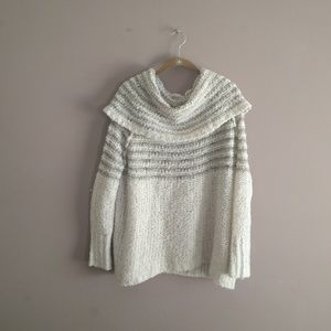 Free People S Engineer Striped Cowl Sweater Mohair